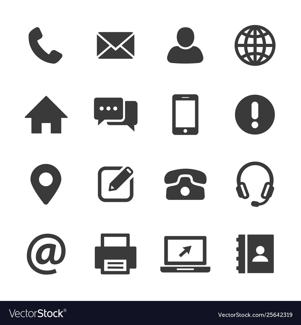 Contact and communication icon set
