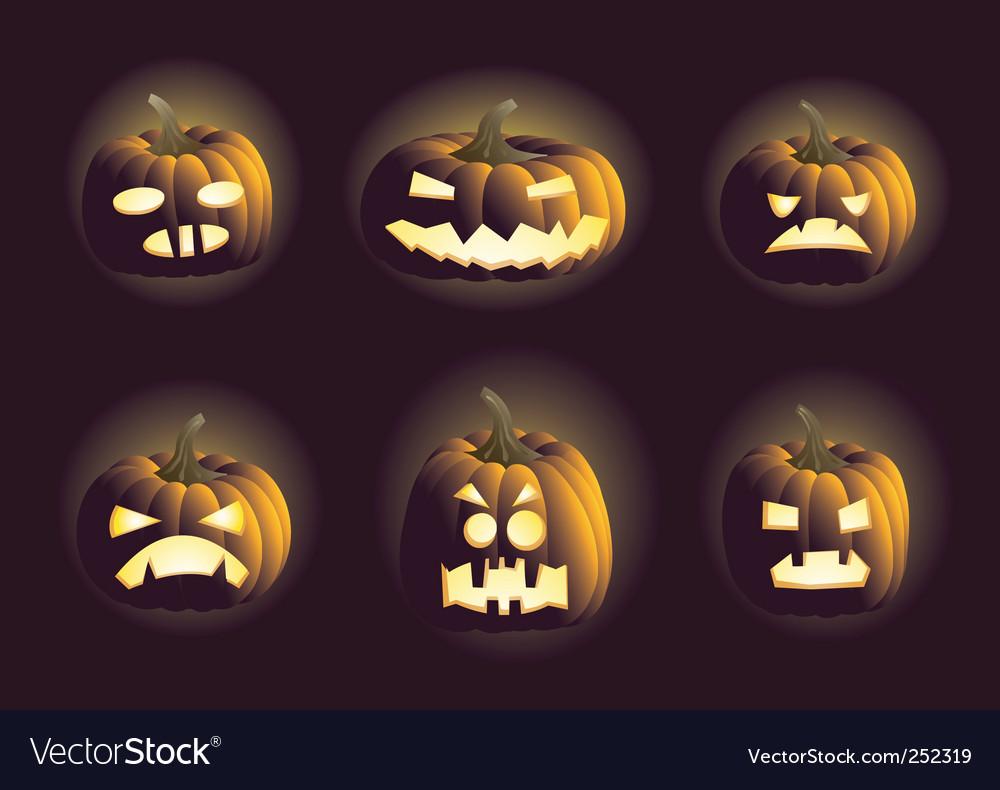 Evil pumpkins vector image