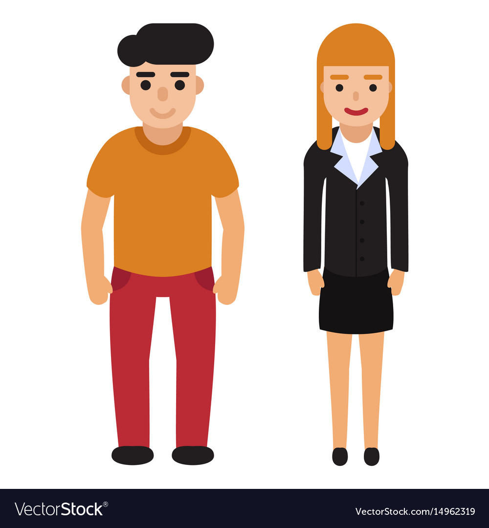 Flat people set vector image