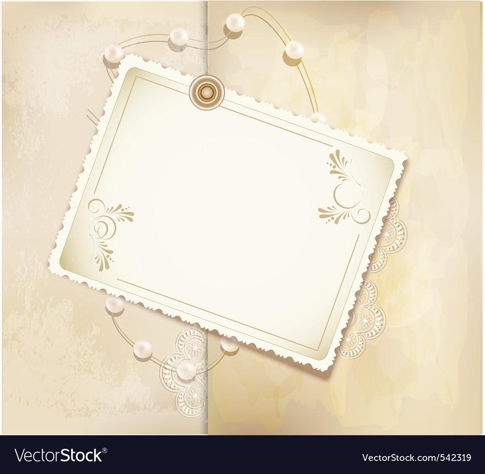 Gold retro background vector image