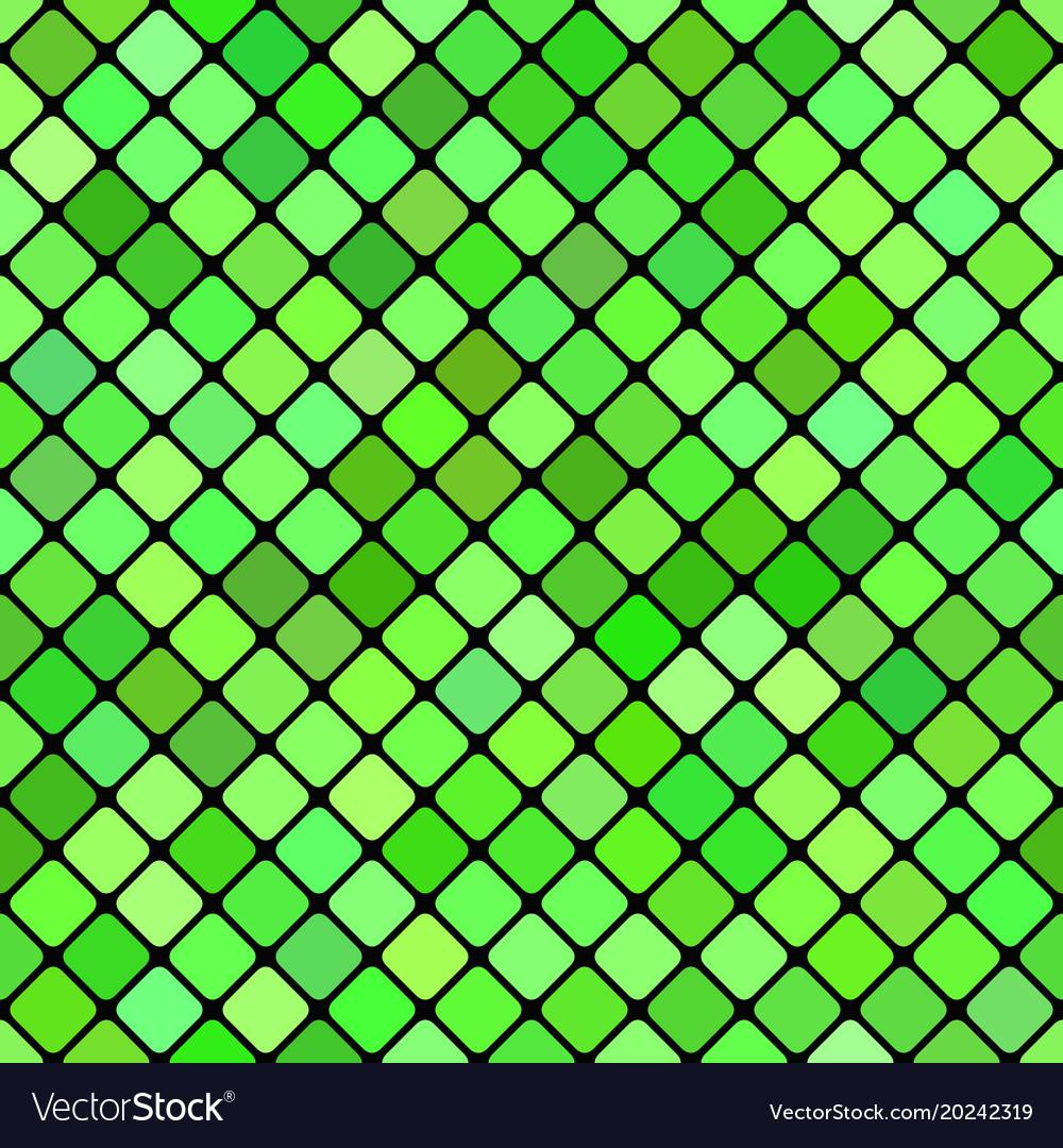 Green abstract seamless diagonal square pattern vector image