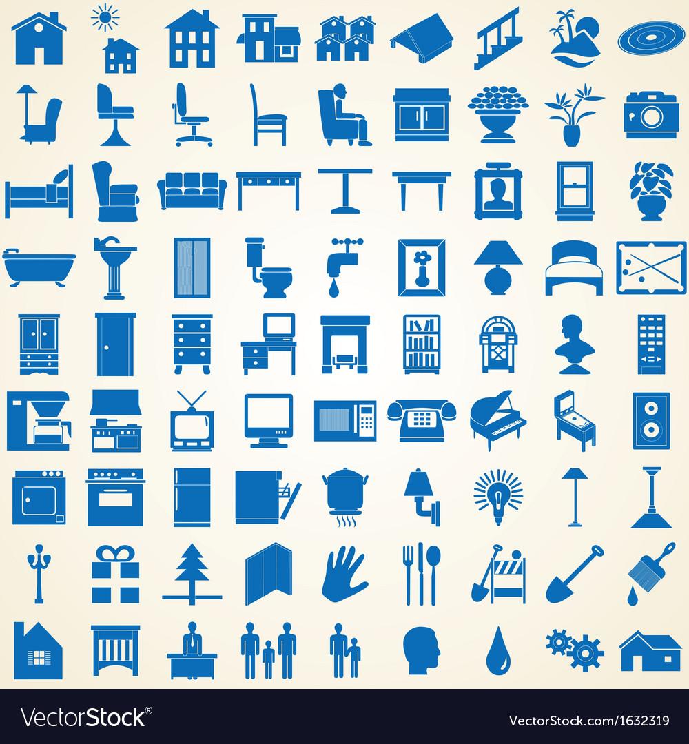 Household interior icons