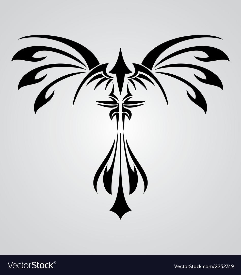Phoenix Bird Tribal vector image