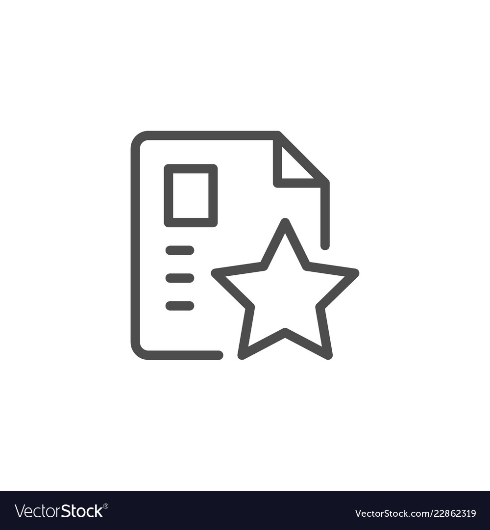 Special document line icon