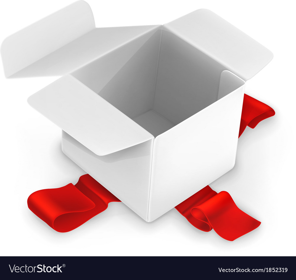 White cardboard box vector image