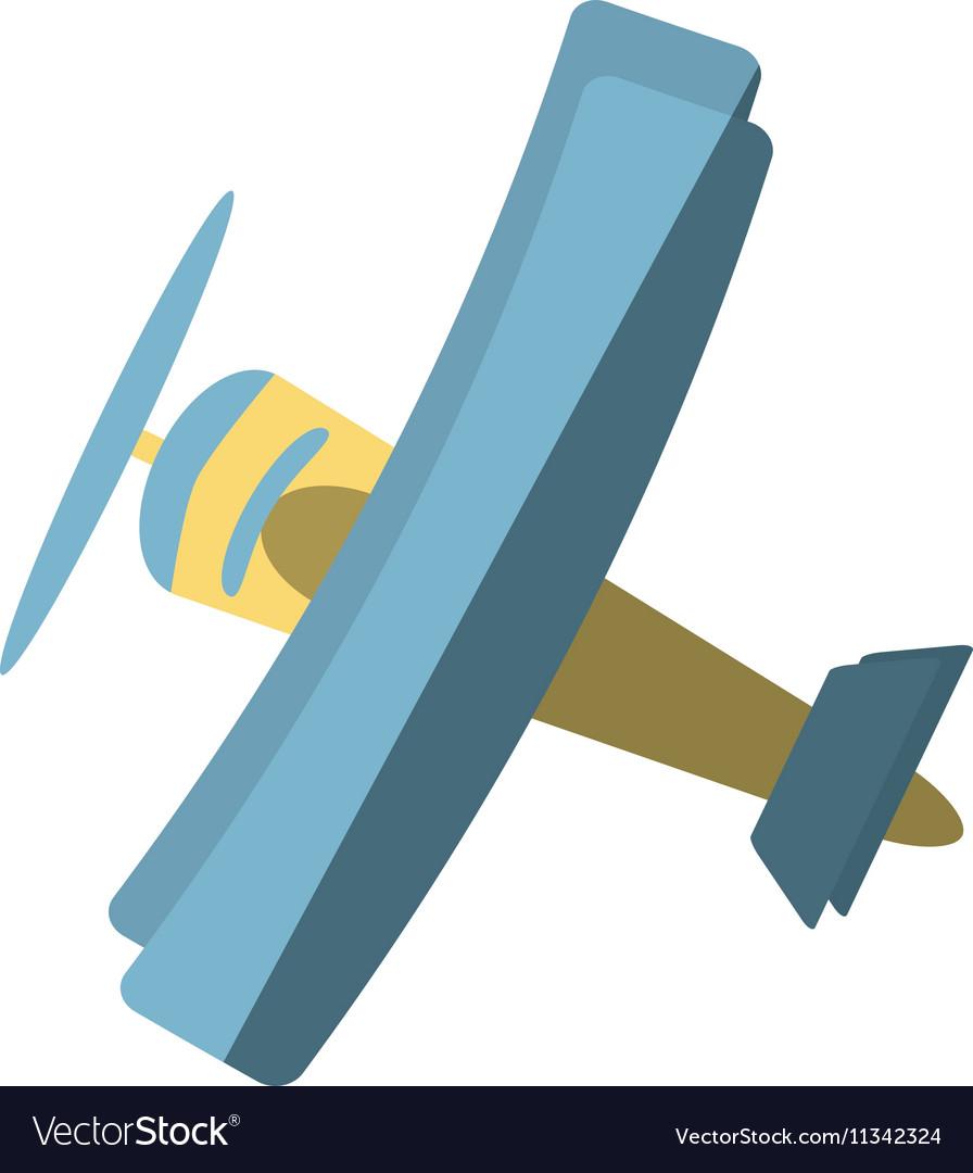 Airplane vehicle flying isolated icon