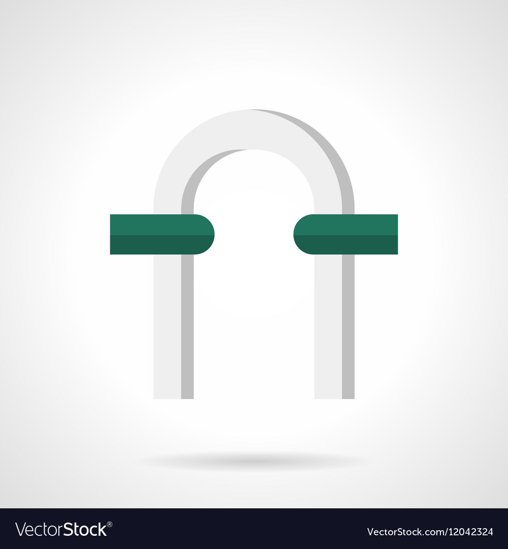 Arch For Garden Flat Color Icon Vector Image