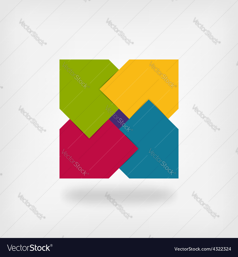 Colored Square Logo Symbol Royalty Free Vector Image