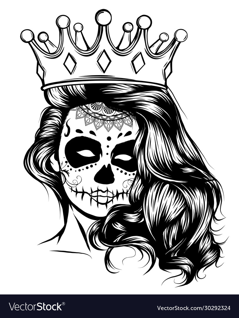 Day dead girl black and white