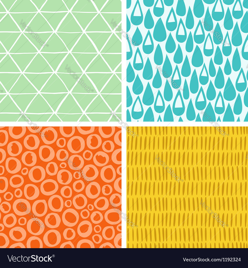 Doodle abstract patterns part 2 vector image