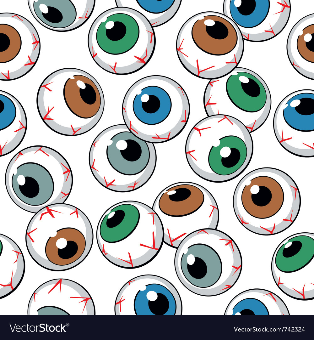 Eyeballs seamless background