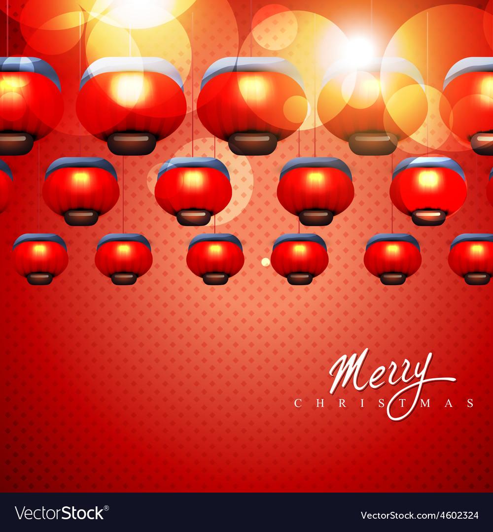 Glowing christmas lamps