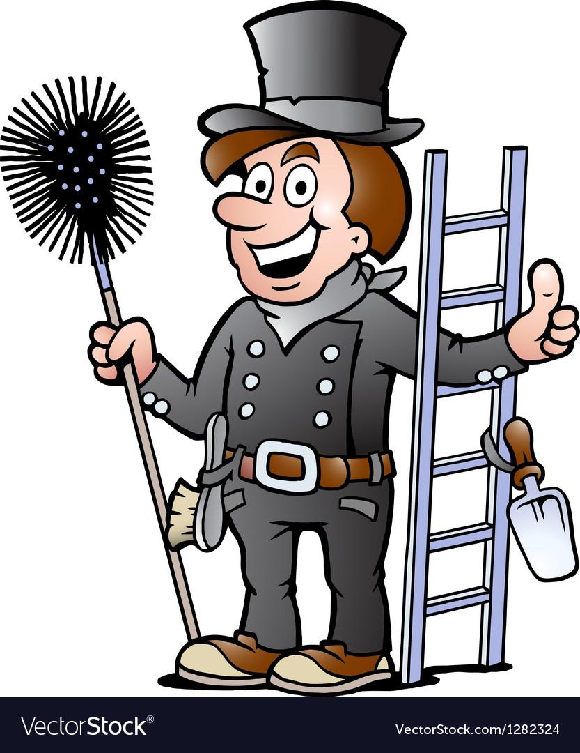 Happy Chimney Sweep vector image