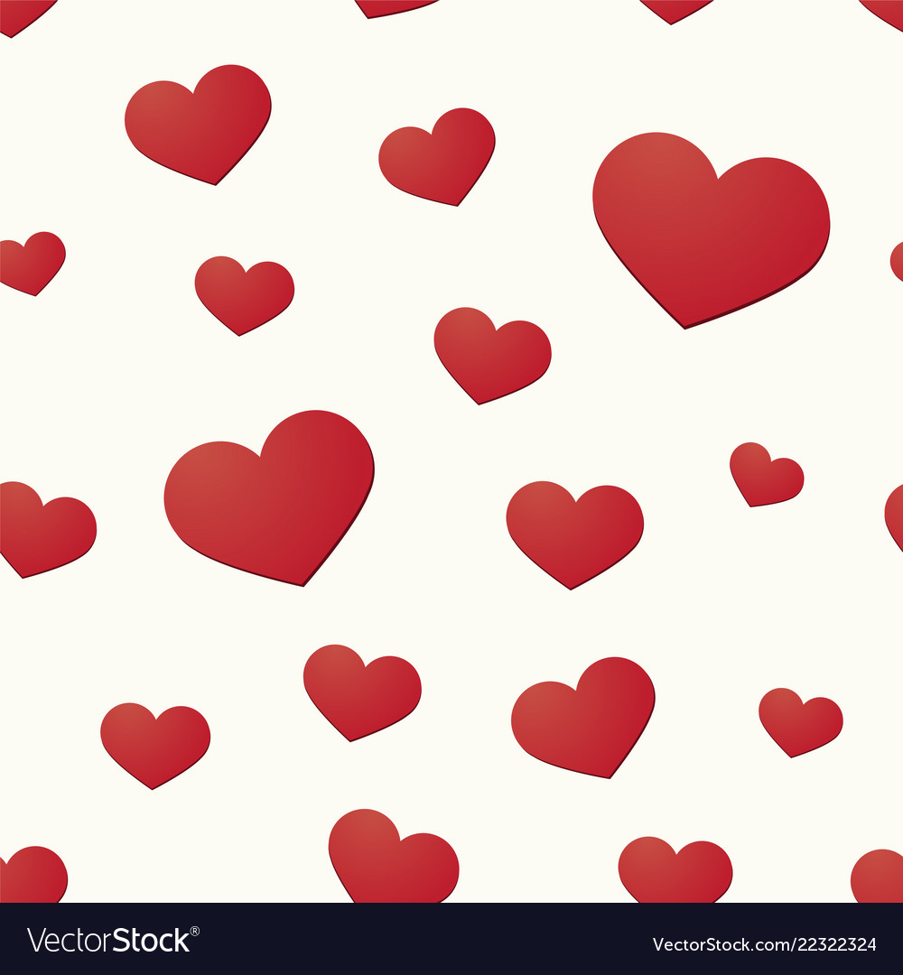 Seamless background with hearts motif