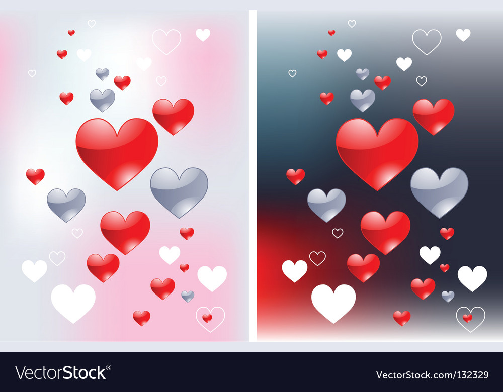 Abstract hearts backgrounds