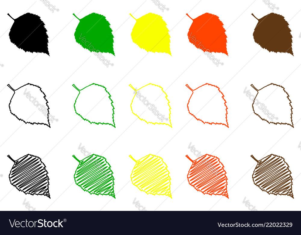 Birch leaf color set