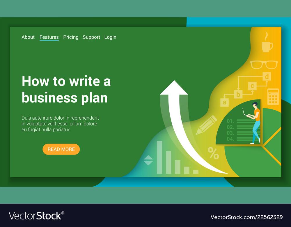 Business plan flat design concept