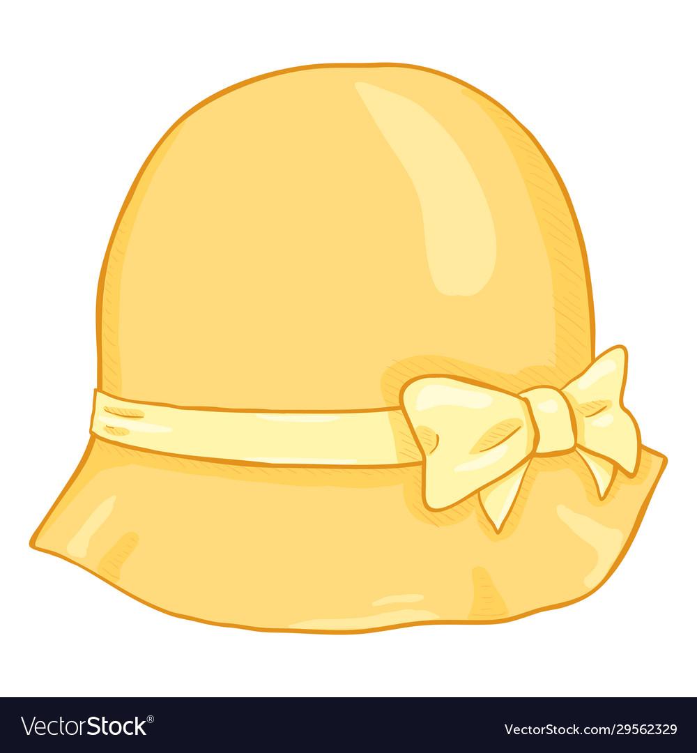 Cartoon yellow elegance women hat