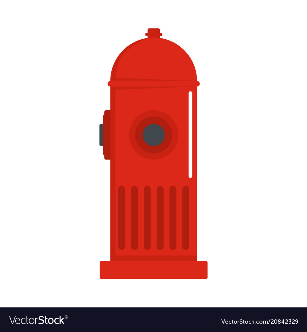 Fire column icon flat style