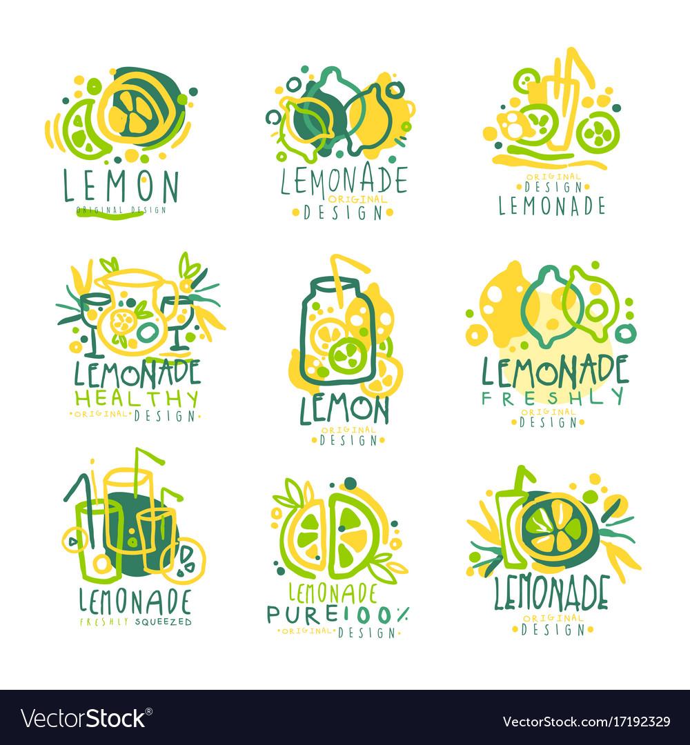 Freshly lemonade 100 percent pure lemon set for
