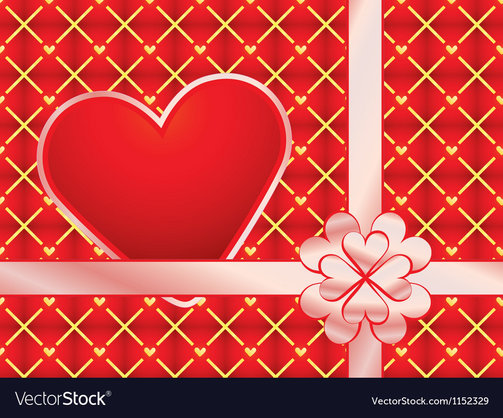 Gift wrapper with red valentine royalty free vector image gift wrapper with red valentine vector image negle Images