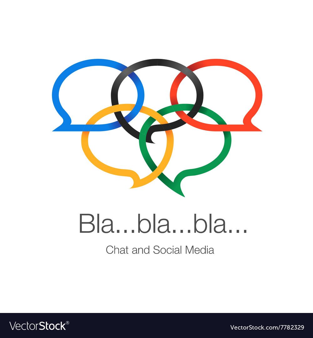 Global communication social network and chatting vector image