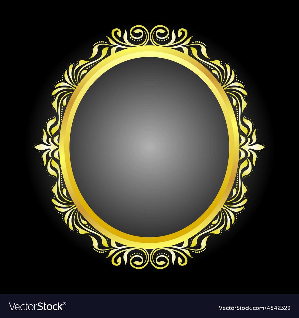 Gold frame oval