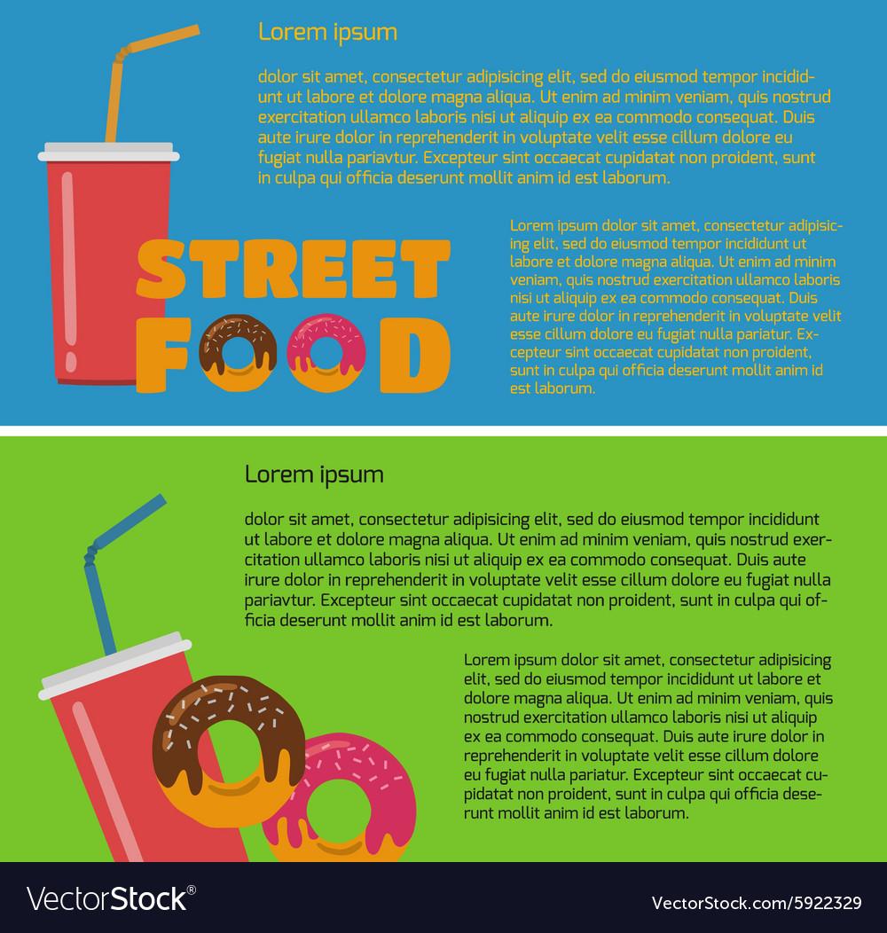 Street food banner vector image