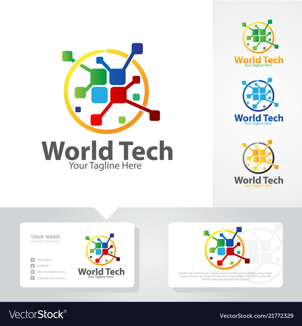 World tech logo designs
