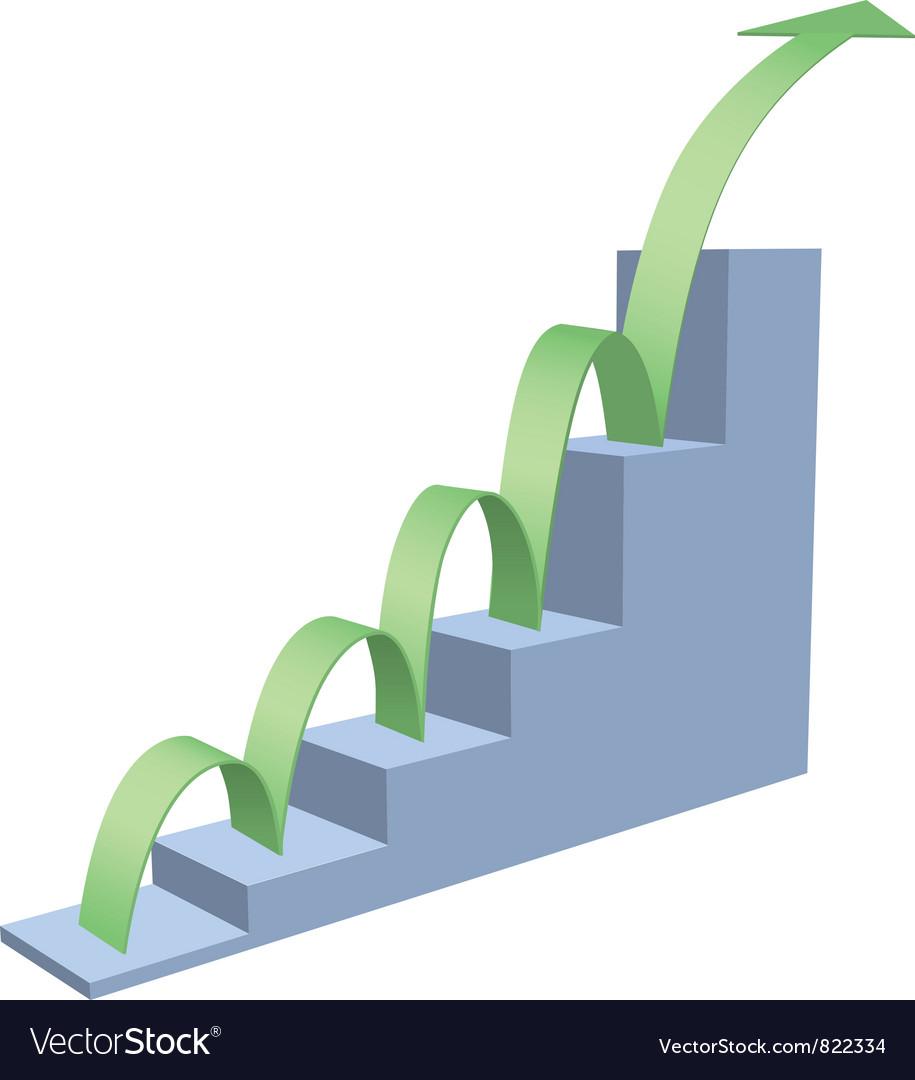 Arrow business chart