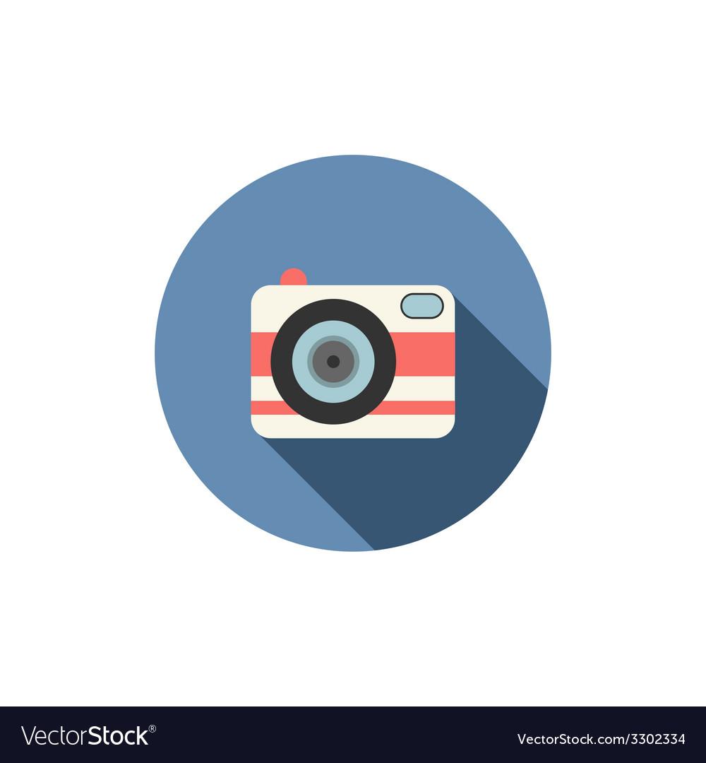 Camera icon Long shadow design