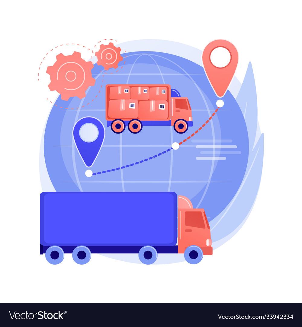 Collaborative logistics abstract concept