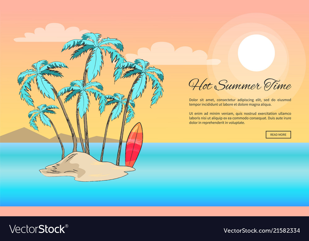 Forever summer poster depicting small island