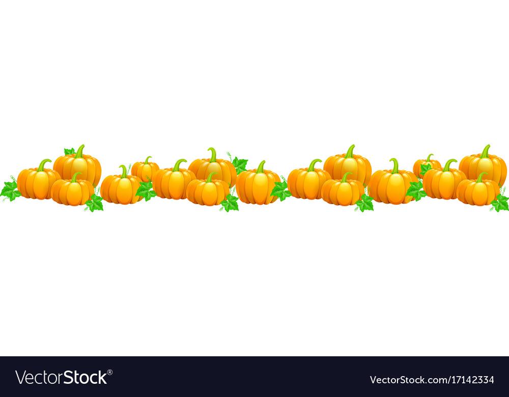 Garland of pumpkins