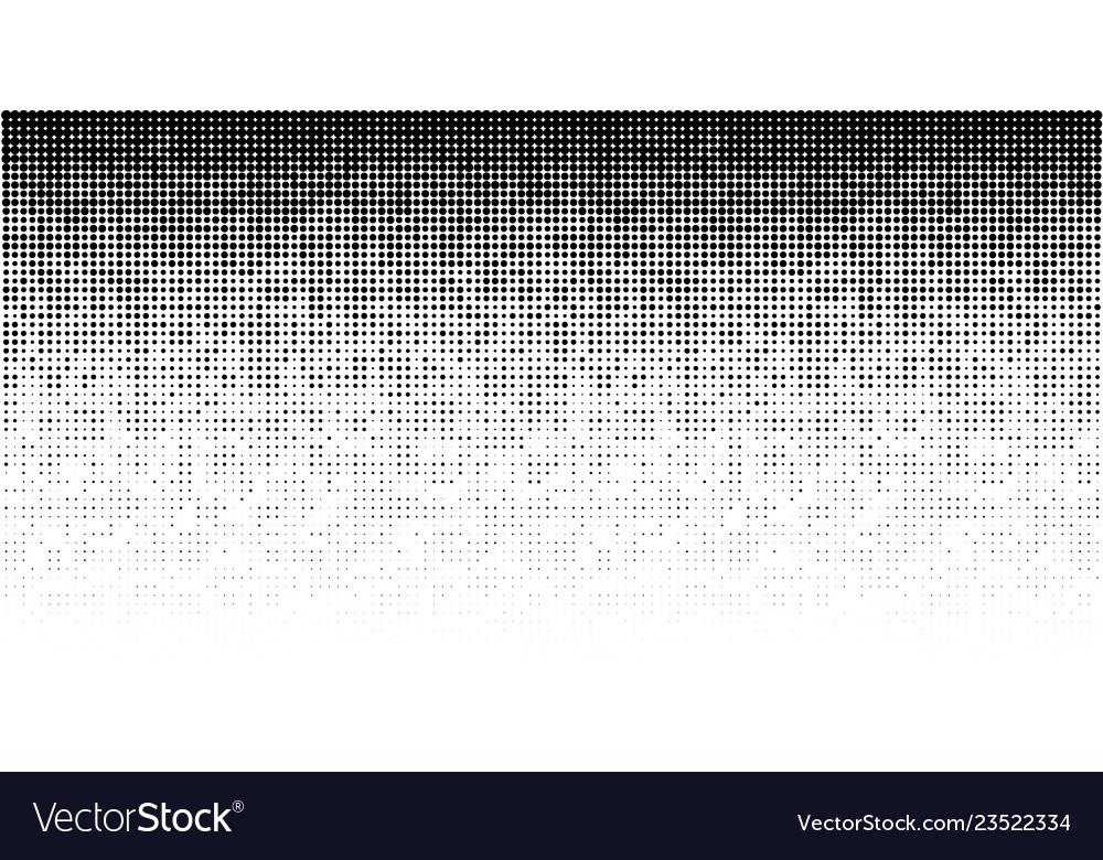 Halftone horizontal gradient pattern