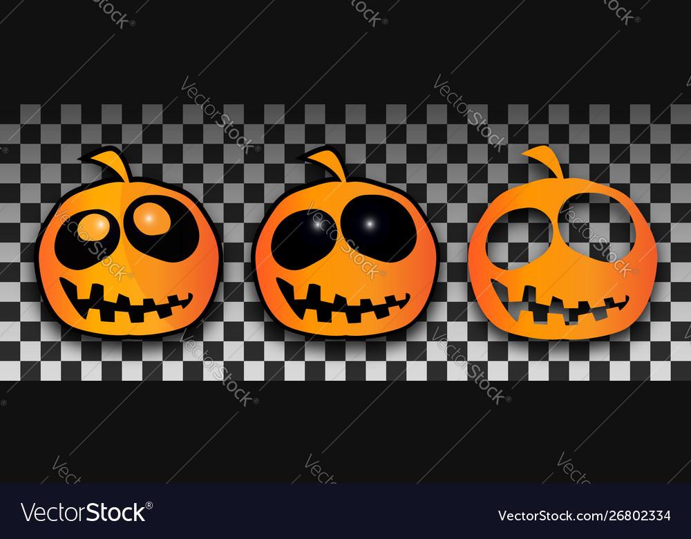 Halloween pumpkins template set pumpkin with