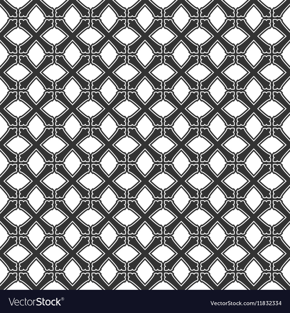 Seamless pattern from crosses Endless geometric