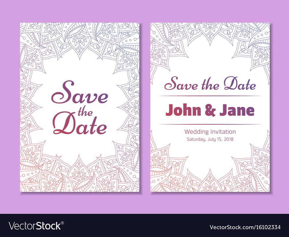 Temptale of wedding invitation flyer