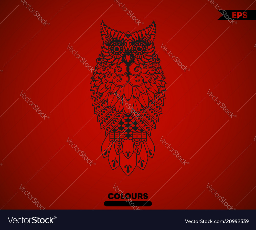 Abstract full body owl