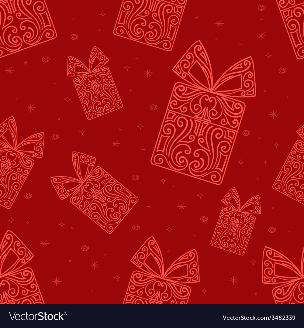 Abstract Gift Pattern vector image