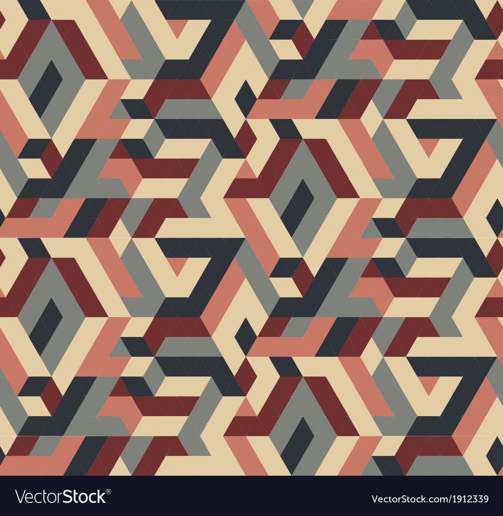 Abstract Seamless Geometric Pattern Vintage Colors