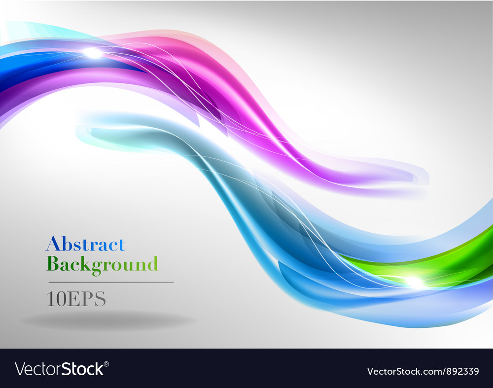 Abstract white two curve blue green purple vector image