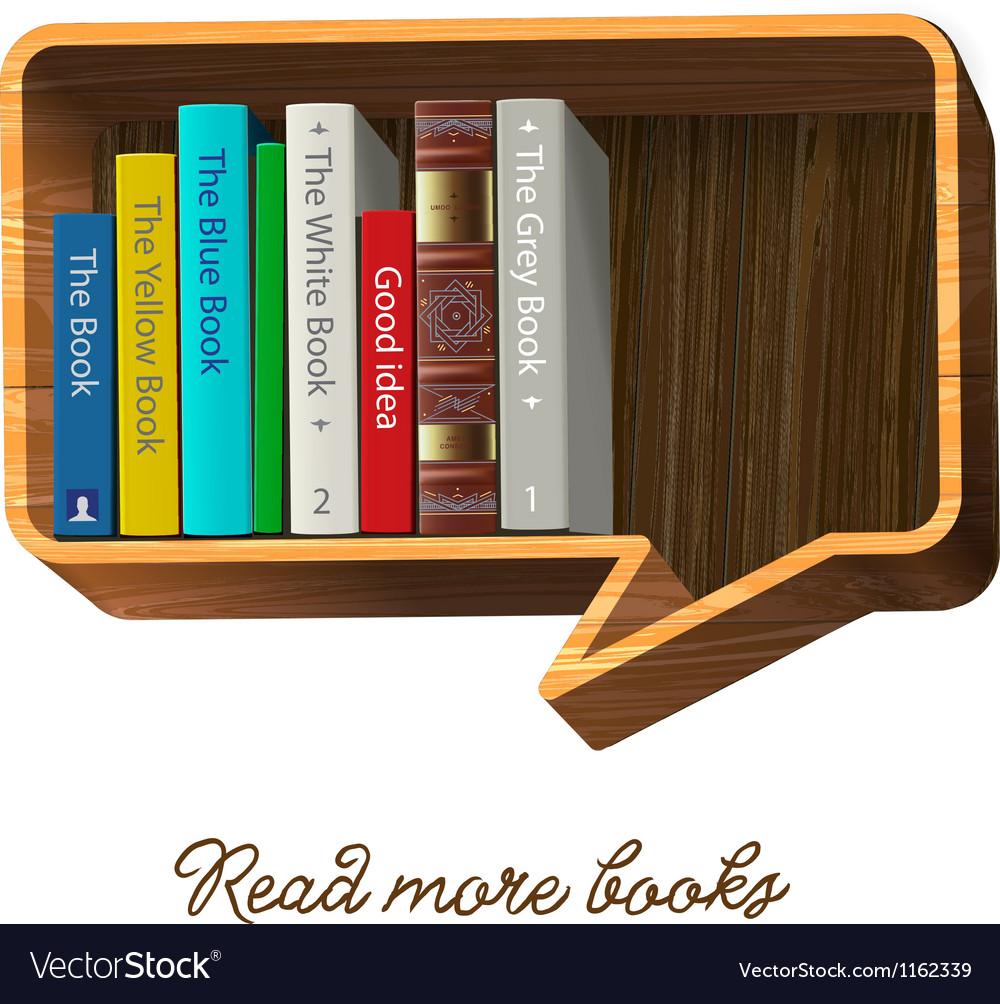 Bookshelf in the form of speech bubble
