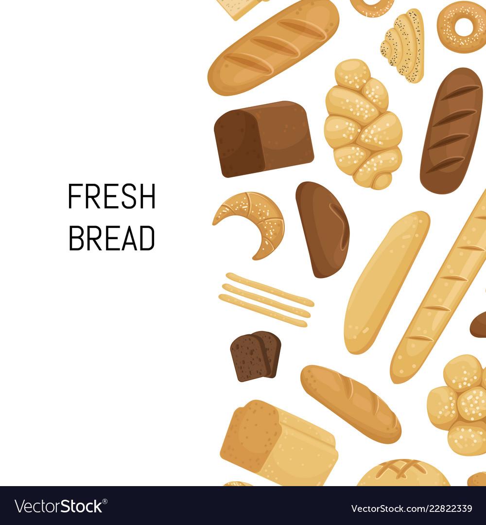 Cartoon bakery elements background isolated