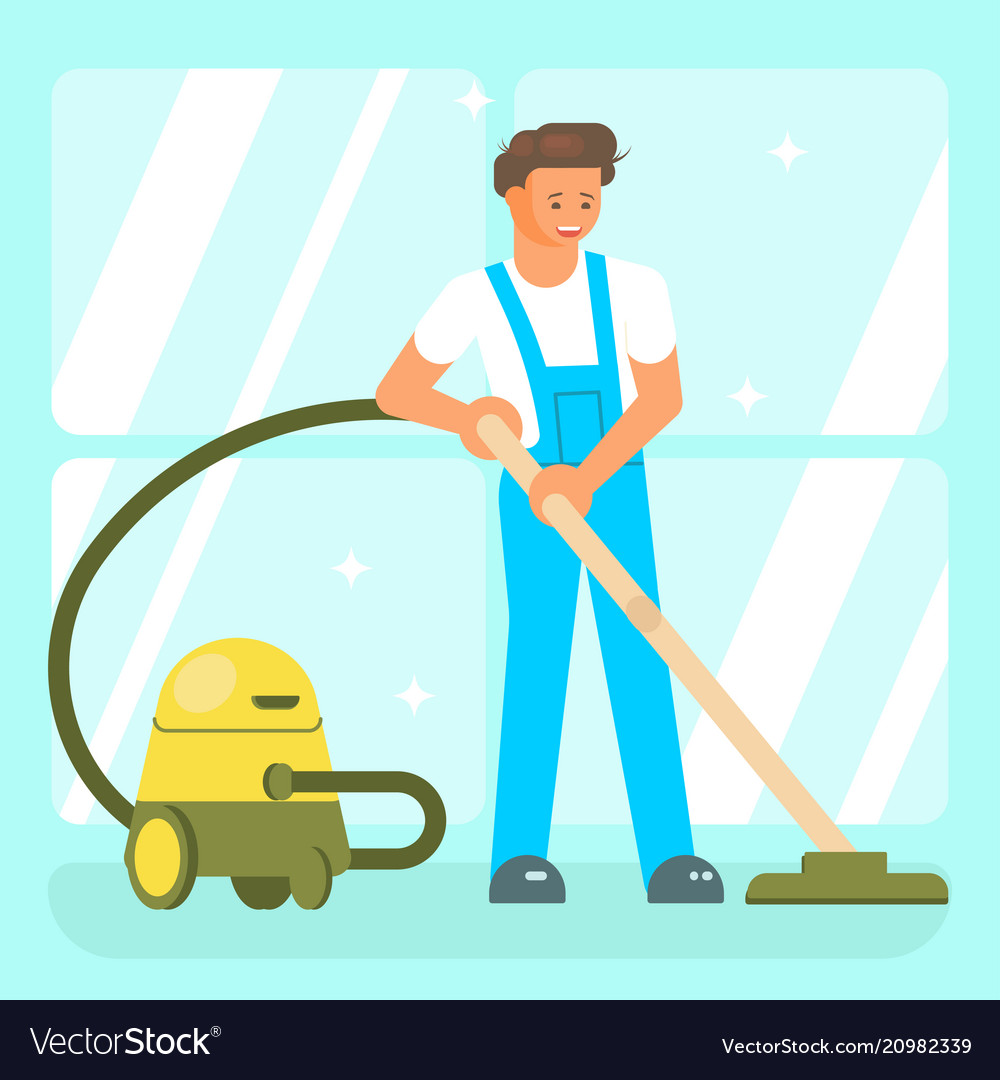 Cleaning service staff characters
