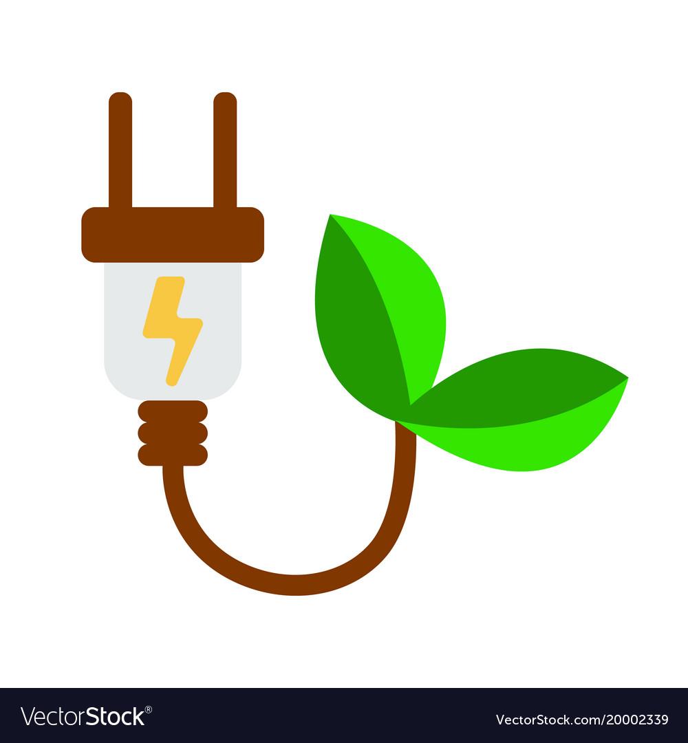 Eco electra plug icon energy label for web on