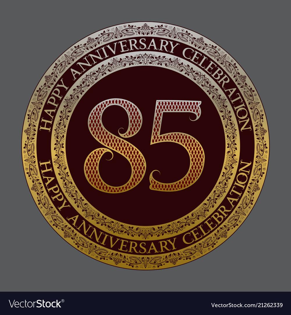 Eighty fifth anniversary celebration logo symbol
