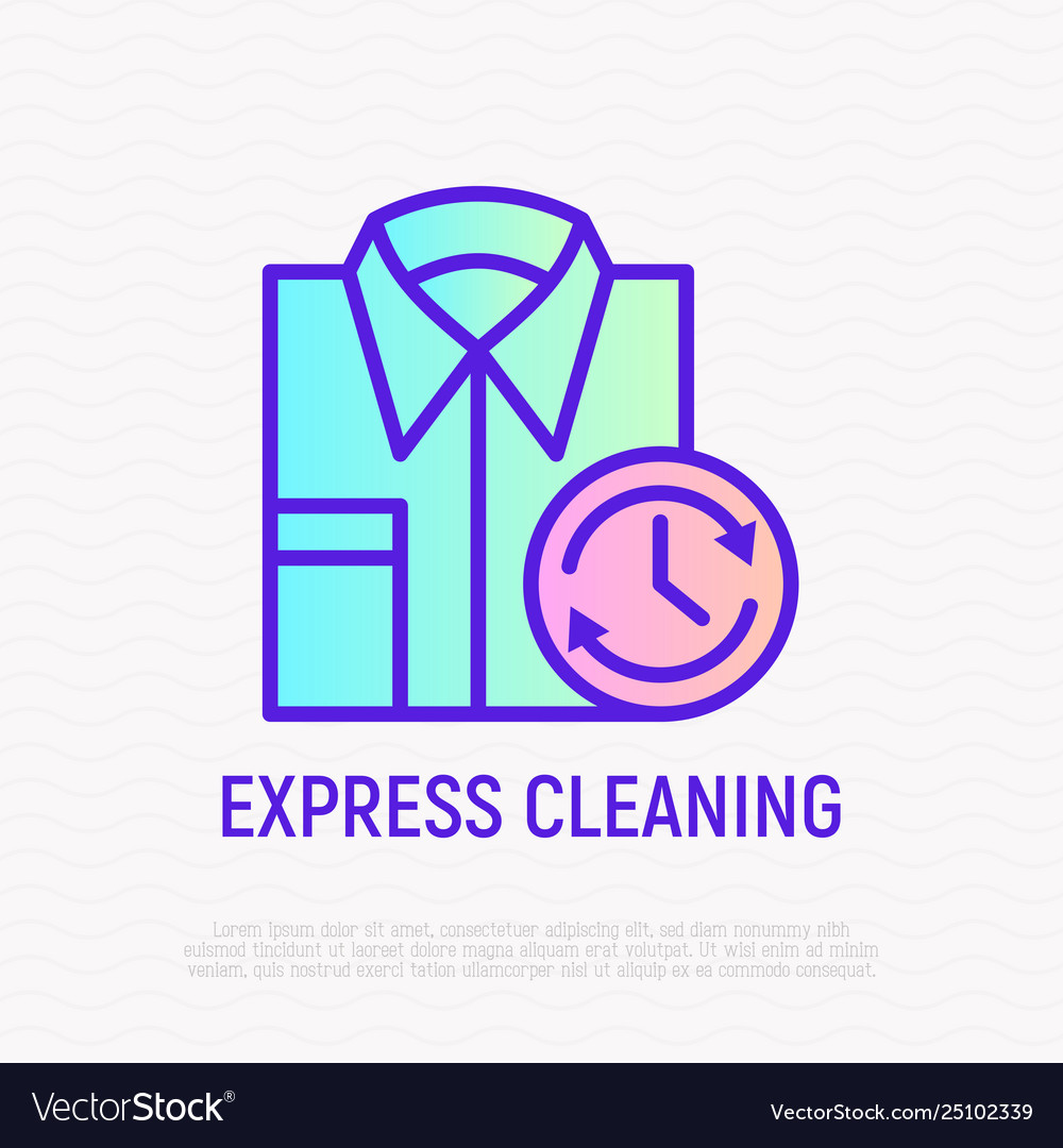 Express cleaning folded shirt with timer