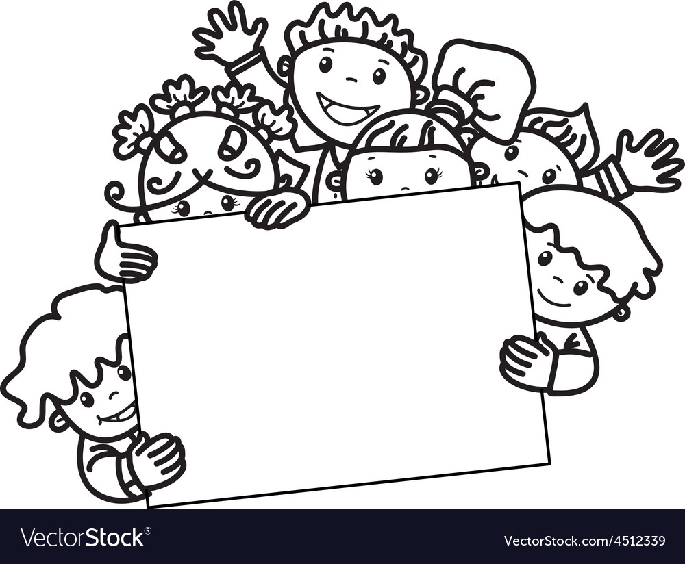 Kids face frame vector image