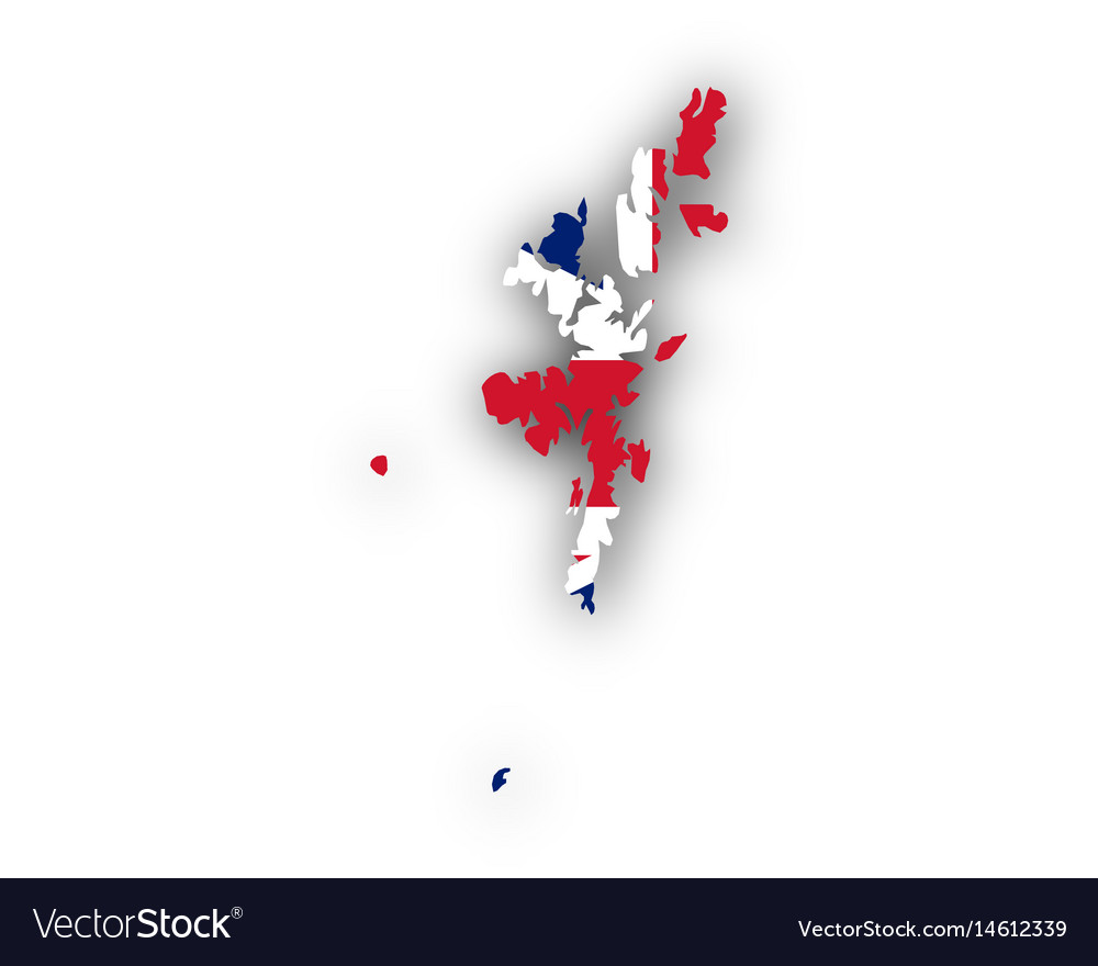 Map and flag of shetland islands